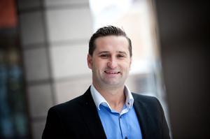 Fredrik Hoel, platschef, tror på en kommande expansion i Borlänge.