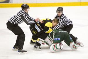 Heta känslor. Viktor Mårtenssons och Sean Currys uppgörelse i ABB Arena förra fredagen är ett hett debattämne.
