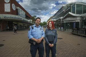 Nu har Conny Thörnell och Jennifer Nylund patrullerat i Söderhamns centrum i en månad.
