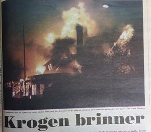 Polisen misstänkte att branden på Nynäs krog, mitt emot dagens färjeterminal, kunde vara anlagd.
