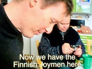 Det finländska konstnärskollektivet Glädjemännen har lämnat spår efter sig på Bomo.