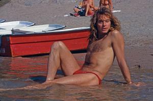 David Lee Roth från Van Halen på Sverigebesök under 80-talet.