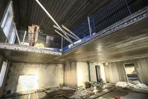 Högst upp ligger det som ska bli en flådig fem-rummare i etage.