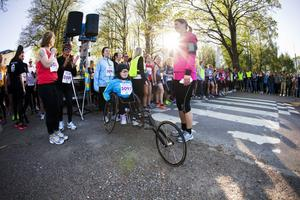 Johanna Mårtensson från Söderhamn deltog för första gången i Vårruset. – Det känns kul. Det är en utmaning, säger hon.