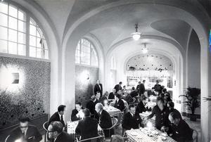 3 december 1966. Västerås stadshotell, gamla vestibulen ombyggd till rôtisseri. Invigning.