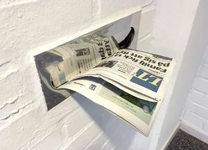 Morgontidningen är levererad.