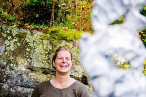 Malin Blom har tidigare arbetat som lärare men nu satsar hon på sin konstkarriär.