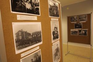 Utställningen på Bergsjö bibliotek pågår till den sista september.