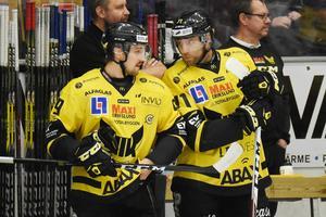 Mikael Frycklund och Niklas Lihagen var två av spelarna som åkte ur hockeyallsvenskan med VIK 2017.