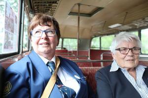 Gerd Wiberg och Anna-Greta Renlund från Vibyggerå hembygdsförening