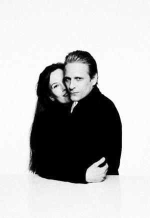 """Elin Klinga spelar Greta Garbo och Jonas Malmsjö gör rollen som Ingmar Bergman i """"The seduction of Ingmar Bergman"""". Foto: Mattias Ahlm"""