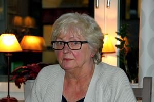 Ulla Wallin lämnades av taxipersonalen.