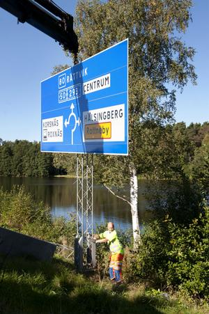 Omskyltningen mellan Gävle och Falun är snart klar. I nästa vecka är det dags för sträckan Falun-Borlänge.