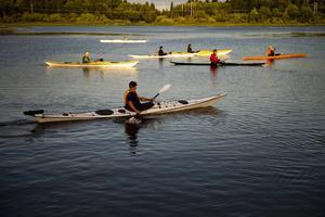 Kajak eller kanot? Båda alternativen fungerar fint i Medelpad.