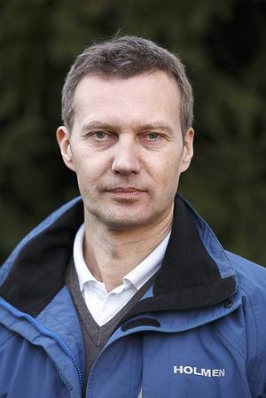 Thomas Bouvin, regionchef på Holmen Skog.