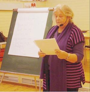 Elisabeth Sandler gav åhörarna en hel del att fundera över.