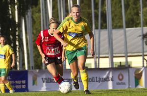 Ljusdals IF:s mittfältare Anna Hammergård jagas av flera andra klubbar.