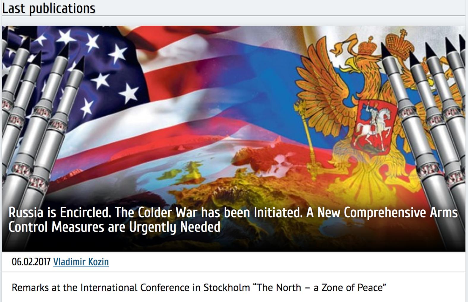 Kyligare forbindelser mellan usa och ryssland 2