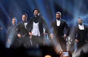'N Sync återförenades i samband med Justin Timberlakes uppträdande på söndagens MTV Video Music Awards.