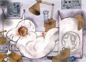 """""""När jag vaknar på morgnarna väntar jag på honom. /.../Men han kommer inte. Nej, det gör han inte.""""Bild: Svein Nyhus"""