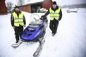 Martin Silfver och Urban Nordmark var parkeringsvakter den här dagen.