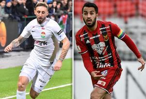 Andrew Stadler och Brwa Nouri är två av spelarna som spelat för både Dalkurd och ÖFK. Foto: TT/Montage
