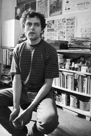 Öyvind Fahlström 1971, fem år senare avled han i cancer. Även som serietecknare var han pionjär, han gjorde konst av det som andra avfärdade som populärkultur. Foto: Jan E Carlsson/Scanpix