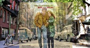 Omslaget till Bob Dylans The Freewheelin' - och platsen omslaget togs på.