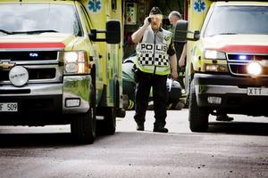När Bernt Mattsson och en kollega kom till olycksplatsen i Tolvsbo såg de två personer sitta vid vägkanten och bli omplåstrade och en tredje som var chockad.