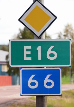Nya vägnummer i Västerdalarna, E16 och 66.