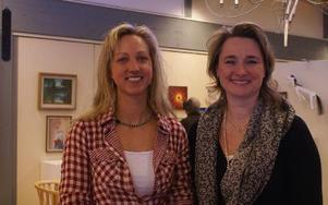 Tin Gumuns och Anette Riesbeck talade på internationella kvinnodagen i Rättvik.
