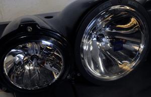 Totalt tre extraljus stals från bilen i Kungsör. Foto: Arkiv.