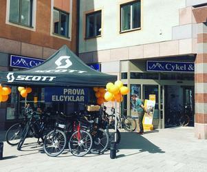 Cykel & Längdspecialisten på Rådhustorget i Falun ska öppna igen i nya regi. Foto: Privat