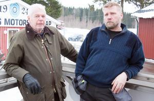 Janne Cermenius och Joakim Larsson från Västerås Motorsällskap.