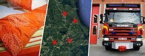 Kartan visar de stationer som erbjuder sovplatser till Norrtäljeborna: Norrtälje, Rimbo, Hallstavik och Älmsta. Även Blidö erbjuder exempelvis dricksvatten och eluttag, men har inte plats för övernattning. Arkivbild: Henrik Montgomery/TT, Google Maps, Ulf Borin