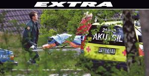 Den 11-årige pojken hittades den 30 maj 2001 med en sax i huvudet i en slänt nedanför Kvarstavägen - Granövägen i Hovsjö.Foto: Mats Andersson.