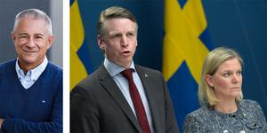 Coronakrisen har redan slagit undan benen på många av småföretagen i Örebro län. Regeringens snabba stöd till näringslivet är välkommet, representerad av finansmarknadsminister Per Bolund och finansminister Magdalena Andersson på bilden,  – men risken är att det inte räcker, skriver Boo Gunnarson, företagarexpert på Visma Spcs (bilden till vänster).FOTO: Janerik Henriksson/TT