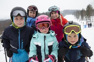 Andreas och Maria Edlund med barnen Karl Alfred, Astrid och Valdemar från Sundsvall gjorde sin sista åkdag för säsongen.