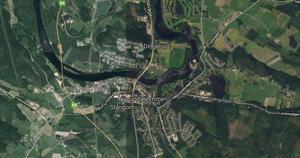 Järnvägar och bilvägar mellan Nolby och Njurundabommen ska byggas om och rustas upp. Karta: Google Maps
