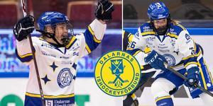 Leksands SDHL-duo Nicole Hall och Tuva Kandell var framträdande i Dalarnas lag i TV-pucken i helgen. Foto: Daniel Eriksson/Bildbyrån