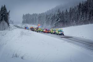 Olyckan inträffade på väg 293 i Borlänge.