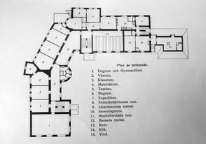 Bodaborgs sinnesslöanstalt. Bottenvåningen, en våning av fyra.
