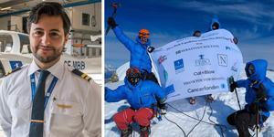Sebastian tog sig till toppen av Mera Peak som ligger på 6 476 meters höjd.