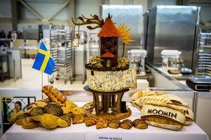 Lina Anderssons tävlingsbidrag bestod av ett skådebröd inspirerat av Mumin. Bild: Viktor Fremling.