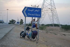 Döda havet var ett självklart stopp på vägen.
