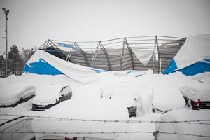 Raserad bilhall hos Bilbolaget i Odenskog.