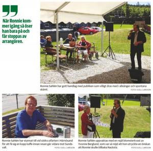 Ronnie Sahlén den 1 juli i Nacksta utanför Sundsvall.