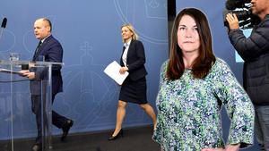Justitie- och inrikesminister Morgan Johansson (S) och Finansminister Magdalena Andersson (S) Foto: Janerik Henriksson