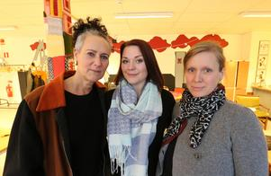 Delar av styrelsen för Falu ungdomsjour. Från vänster; Ulrika Vargtand, Josefin Österlund och Elin Norrgård.