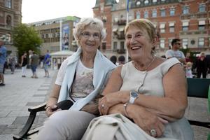 Marianne Eriksson och Anita Sellén brukar gå på Sundsvall bjuder varje gång de har möjlighet.
